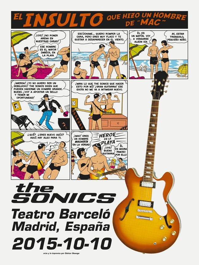 THE SONICS - Madrid 2015 by Ross Sewage