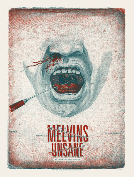 MELVINS / UNSANE - Charlotte 2012 by Drew Binkley