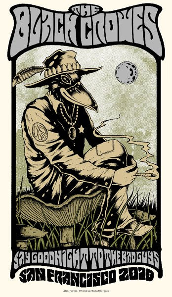 THE BLACK CROWES - San Francisco 2010 by Alan Forbes (handbill)