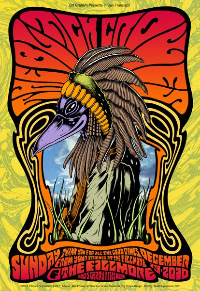 THE BLACK CROWES - San Francisco 2010 by Alan Forbes (night 6) - LAST COPIES