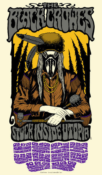 THE BLACK CROWES - Tour 2009 by Alan Forbes (9/17/09 - 10/3/09)