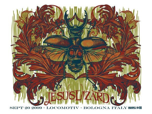 THE JESUS LIZARD - Bologna 2009 by Ironforge Press (band signed)