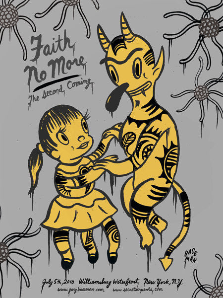 FAITH NO MORE - New York 2010 (grey edition) by Gary Baseman