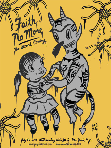 FAITH NO MORE - New York 2010 (yellow edition) by Gary Baseman