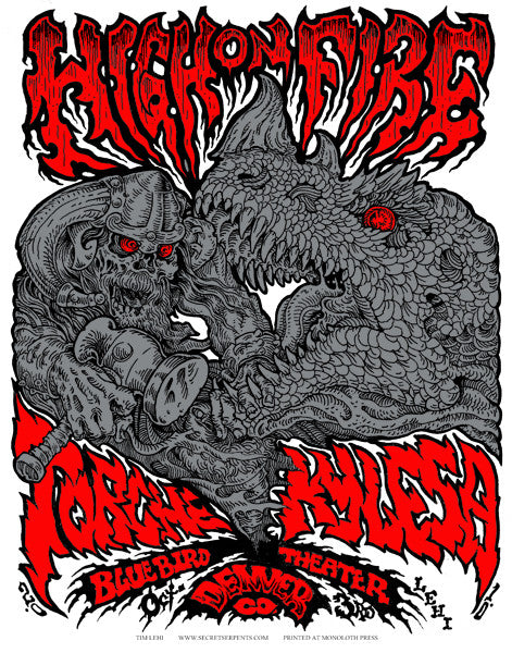 HIGH ON FIRE - Denver 2010 by Tim Lehi