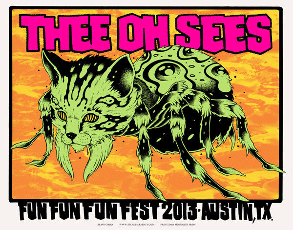 THEE OH SEES - Austin 2013 by Alan Forbes