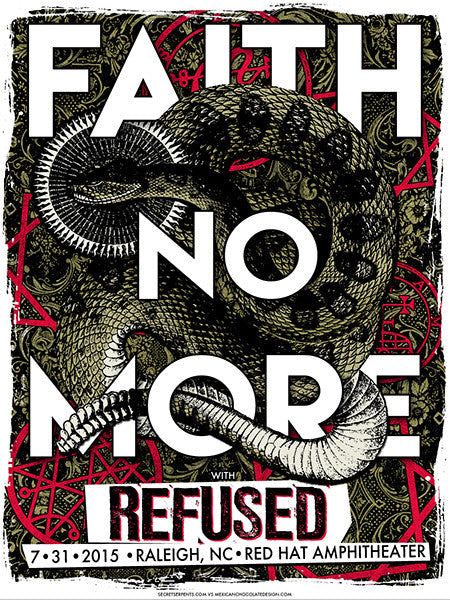 FAITH NO MORE / REFUSED - Raleigh 2015 by Jared Connor