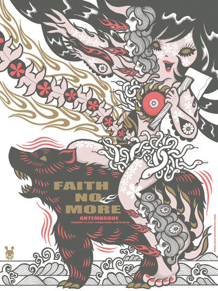 FAITH NO MORE - Tokyo 2015 (night 1 pearl variant) by Junko Mizuno - Scratch & Dent
