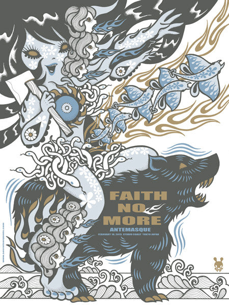FAITH NO MORE - Tokyo 2015 (night 2 pearl variant) by Junko Mizuno - Scratch & Dent