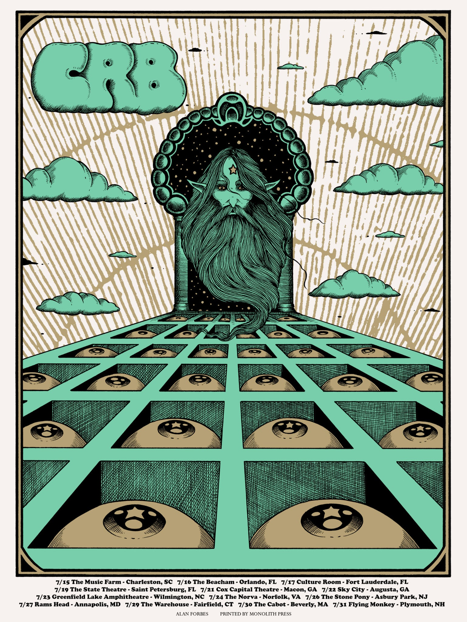 THE CHRIS ROBINSON BROTHERHOOD - July Tour 2016 (7/15/16 - 7/31/16) by Alan Forbes LAST COPIES