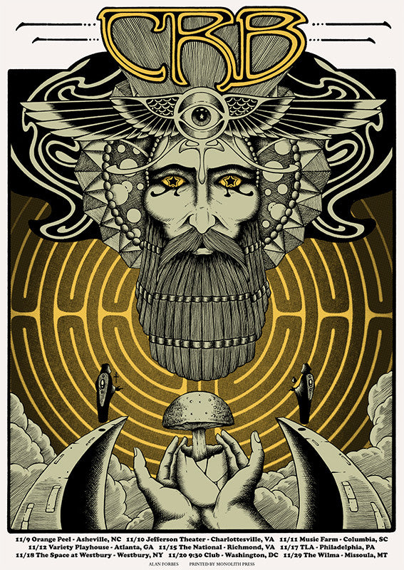 THE CHRIS ROBINSON BROTHERHOOD - Nov Tour 2016 (11/9/16 - 11/29/16) by Alan Forbes