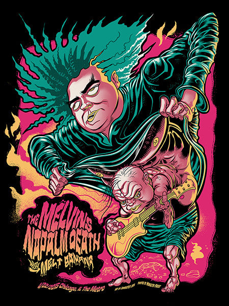 MELVINS / NAPALM DEATH - Chicago 2016 by Zombie Yeti