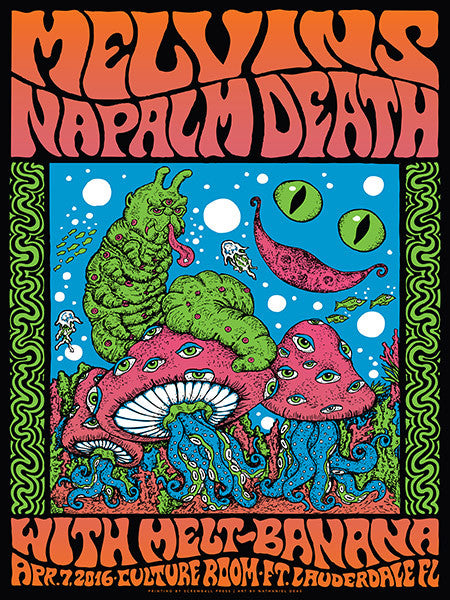 MELVINS / NAPALM DEATH - Fort Lauderdale 2016 by Nate Deas