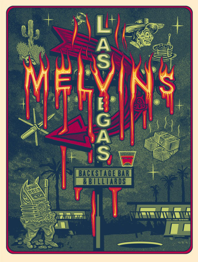 MELVINS - Las Vegas 2016 by John Howard