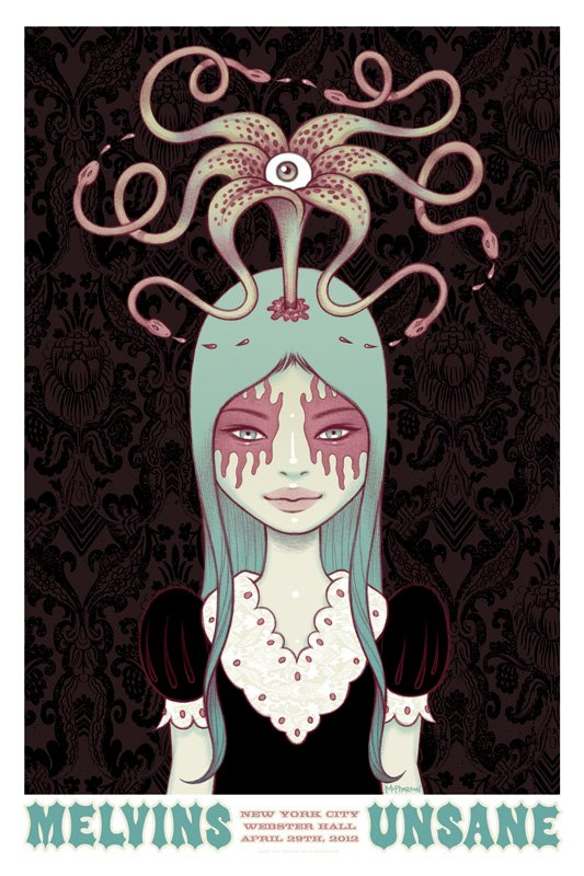 MELVINS / UNSANE - New York 2012 by Tara McPherson