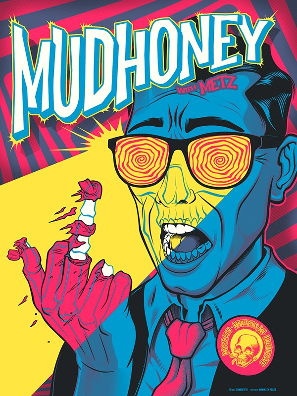 MUDHONEY / METZ - Minneapolis 2019 by Zombie Yeti