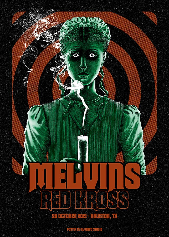MELVINS / REDD KROSS - Houston 2019 by Elverbo Studio