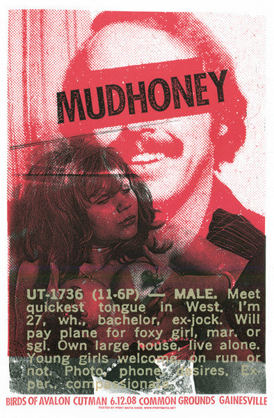 MUDHONEY - Gainesville 2008 by Print Mafia