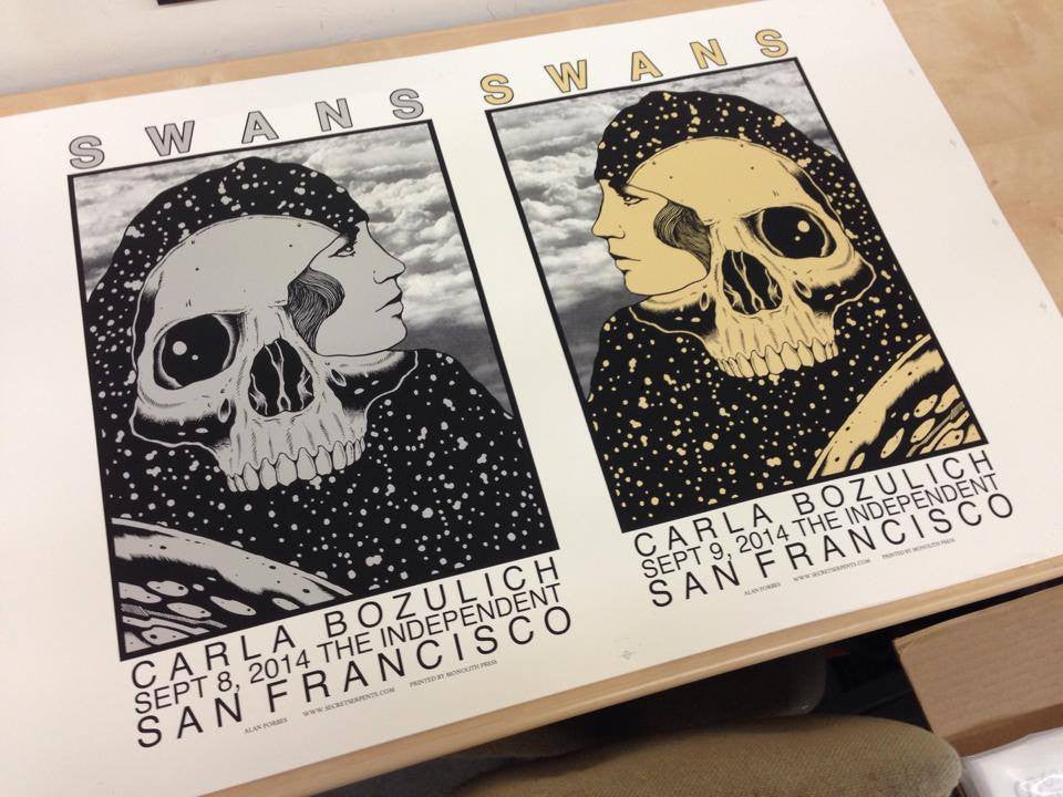 SWANS - San Francisco 2014 by Alan Forbes (uncut proof)