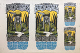 THE BLACK CROWES - Tour 2009 by Alan Forbes (10/4/09 - 10/22/09) UNCUT SHEET
