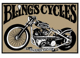 BLINGS CYCLES - 2007 art print by Alan Forbes