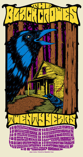 THE BLACK CROWES - Tour 2010 by Alan Forbes (9/1/10 - 9/19/10) (handbill)