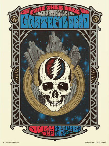 GRATEFUL DEAD - Chicago 2015 by Alan Forbes & Camille Johnson