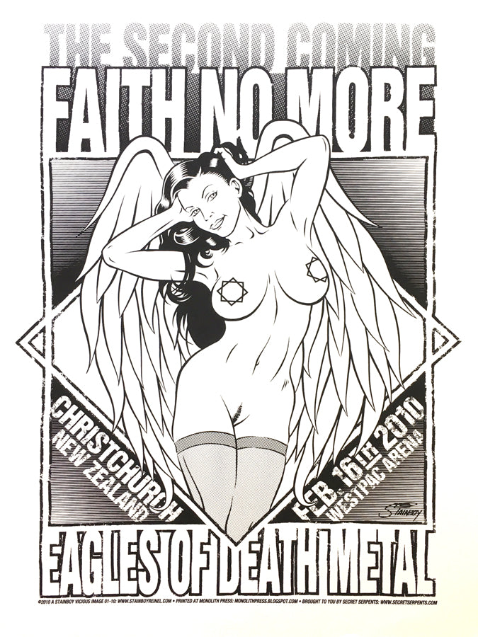 FAITH NO MORE - Christchurch 2010 (blackline) by Stainboy