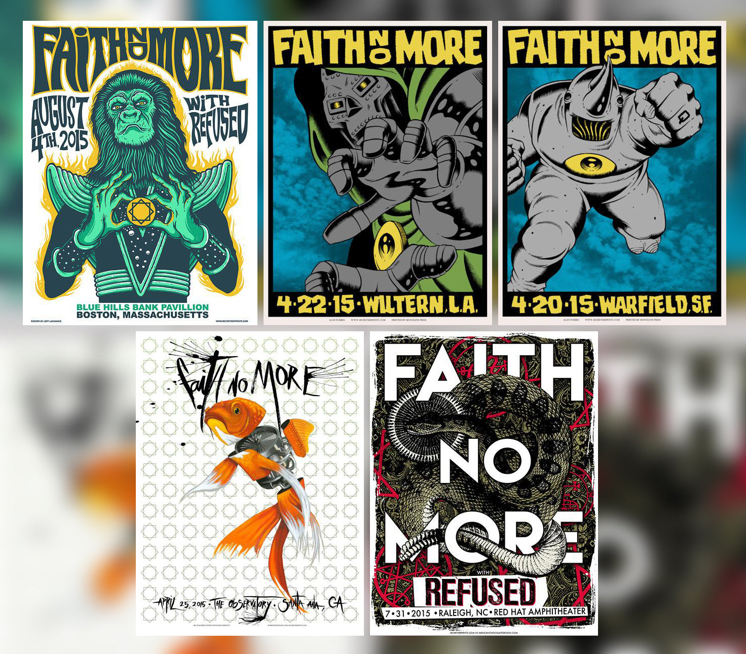 2015 FAITH NO MORE - (Not So) Mystery Tube #4 VERY FEW AVAILABLE