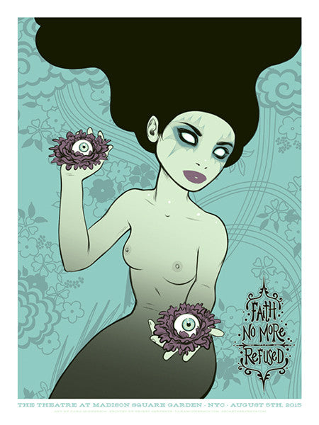 FAITH NO MORE - New York 2015 (black hair) by Tara McPherson