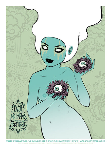FAITH NO MORE - New York 2015 (white hair) by Tara McPherson
