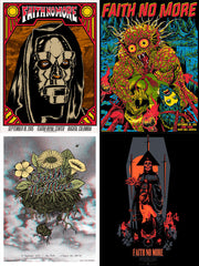 FAITH NO MORE - South America 2015 poster set
