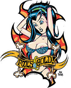 FOOLS GOLD - sticker by Alan Forbes