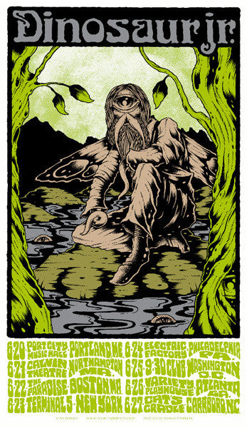 DINOSAUR JR - Bug tour 2011 by Alan Forbes (handbill)