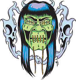 GHASTLY - sticker by Alan Forbes
