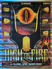 HIGH ON FIRE - Atlanta 2015 by Dave Berns (pillar foil variant) - Scratch & Dent