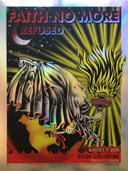FAITH NO MORE / REFUSED - Toronto 2015 (foil variant) by Delano Garcia - Overstock