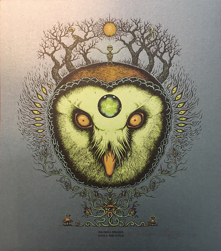 GHOST OWL - art print by Alan Forbes & Marq Spusta (3 versions)