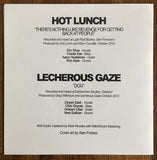 "LECHEROUS GAZE / HOT LUNCH split 7"" (alternate cover)"