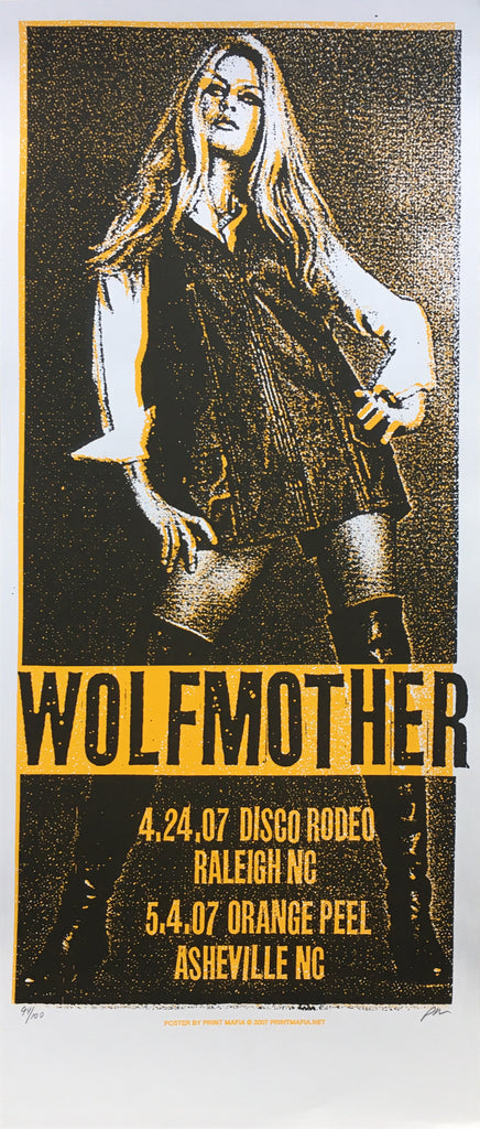 WOLFMOTHER - Raleigh / Asheville 2007 by Print Mafia