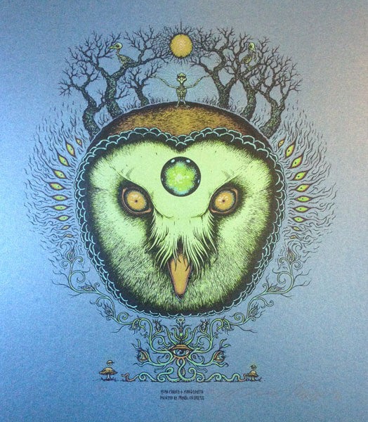 GHOST OWL - art print by Alan Forbes & Marq Spusta