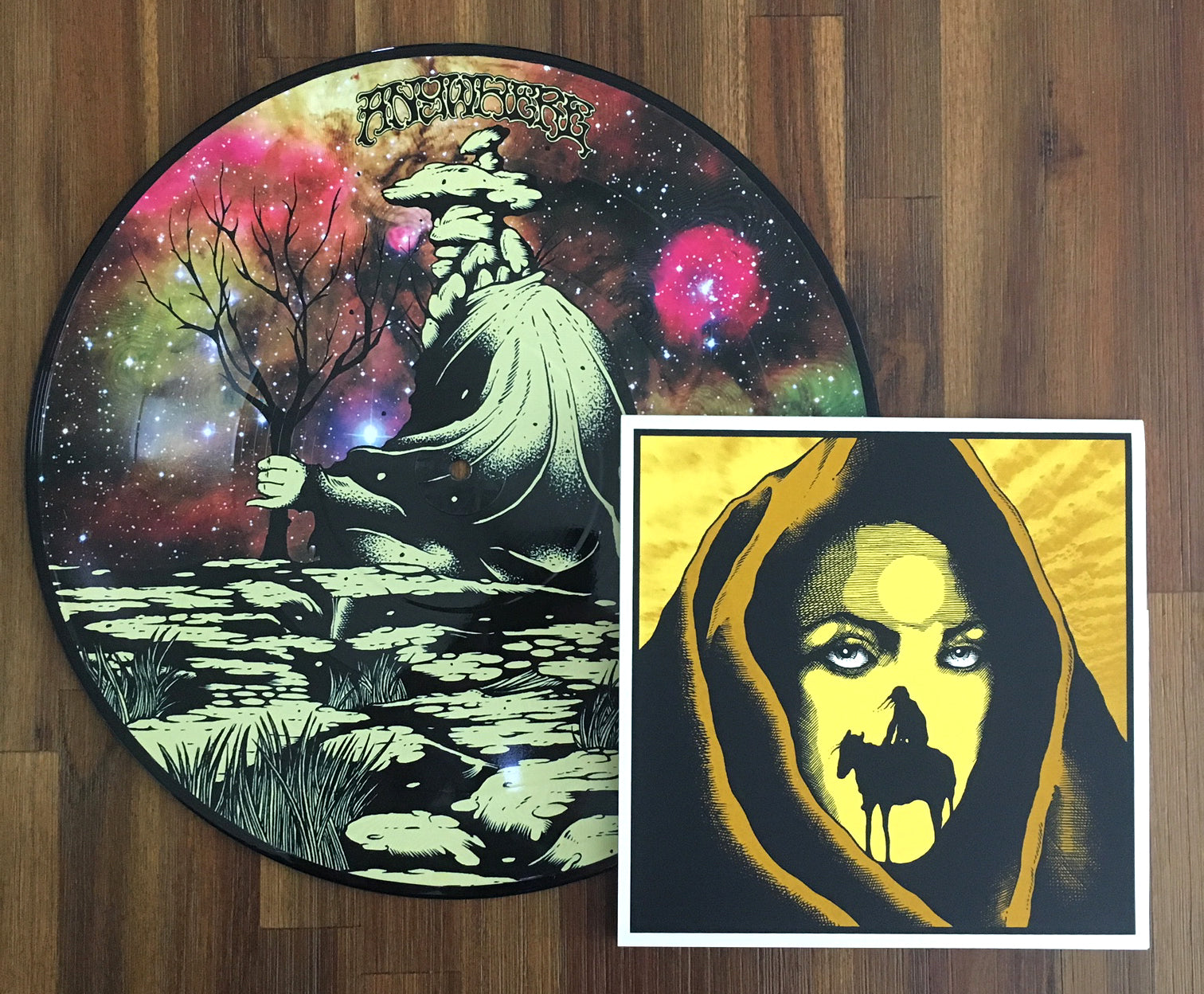 "ANYWHERE 'Olompali' 12"" + 'Light The Portals' triple 7"" - bundle"