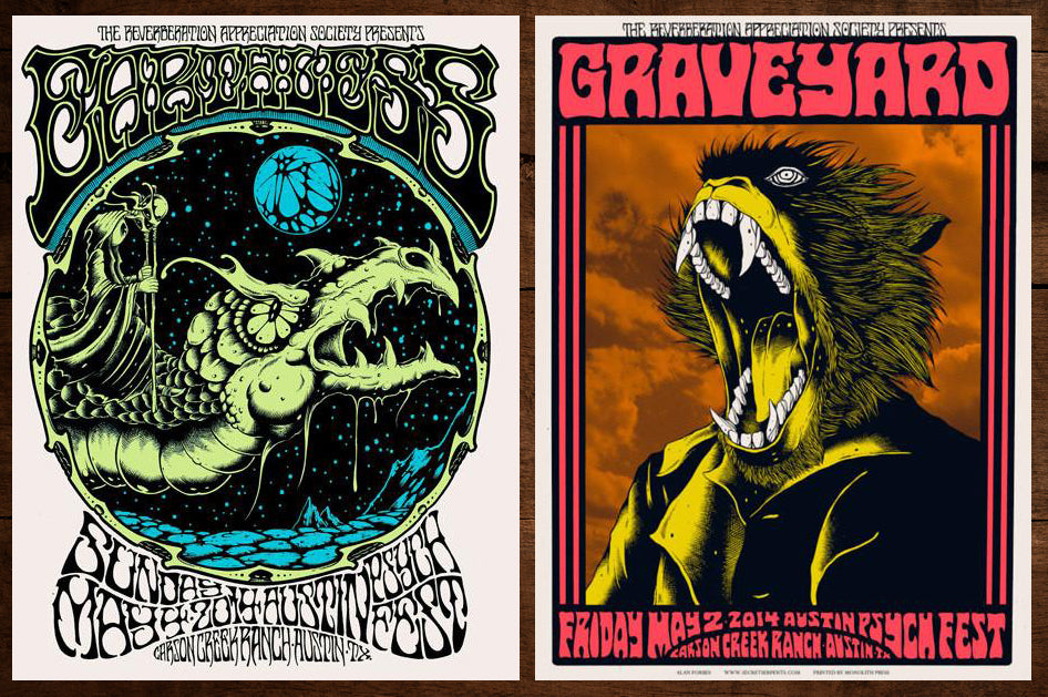 EARTHLESS / GRAVEYARD - Austin Psych Fest 2015 set by Alan Forbes