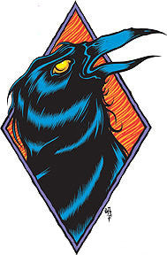 RAVEN - sticker by Alan Forbes
