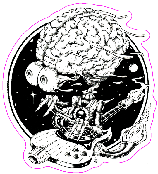 SPACE BRAIN - sticker by Alan Forbes