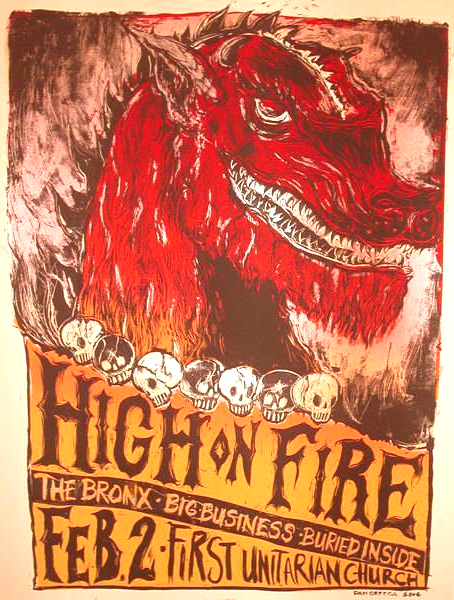 HIGH ON FIRE - Philadelphia 2006 by Dan Grzeca