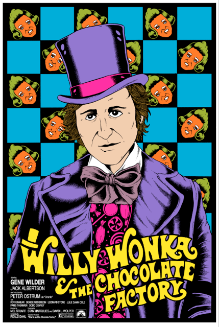 WILLY WONKA & THE CHOCOLATE FACTORY - art print 2016 by Alan Forbes