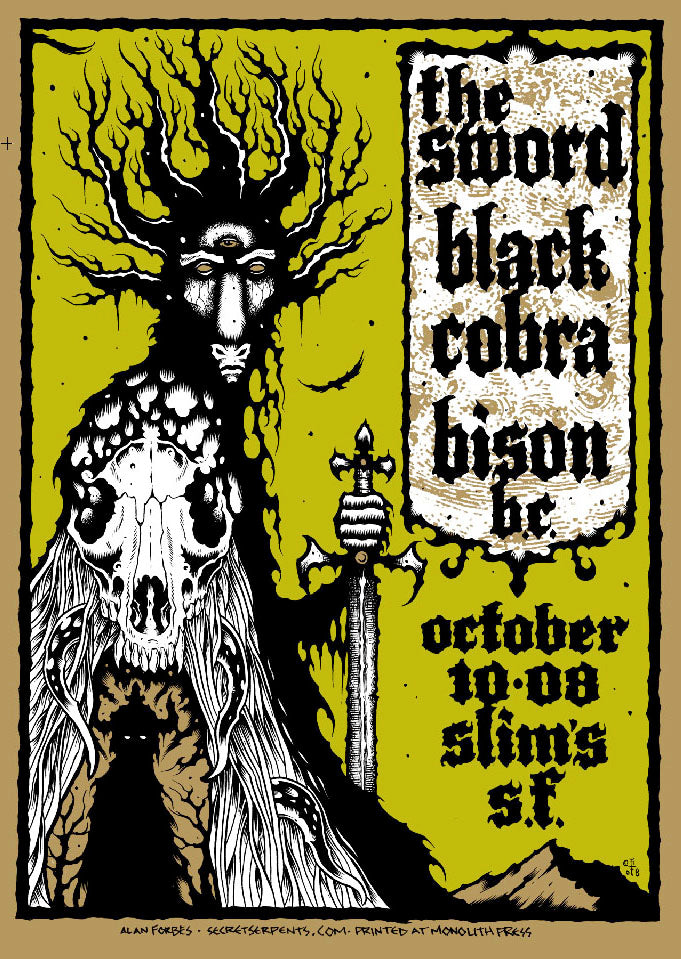 THE SWORD / BLACK COBRA - San Francisco 2008 by Alan Forbes