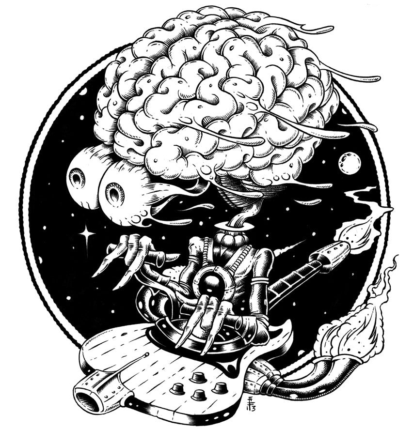 SPACE BRAIN - art print by Alan Forbes