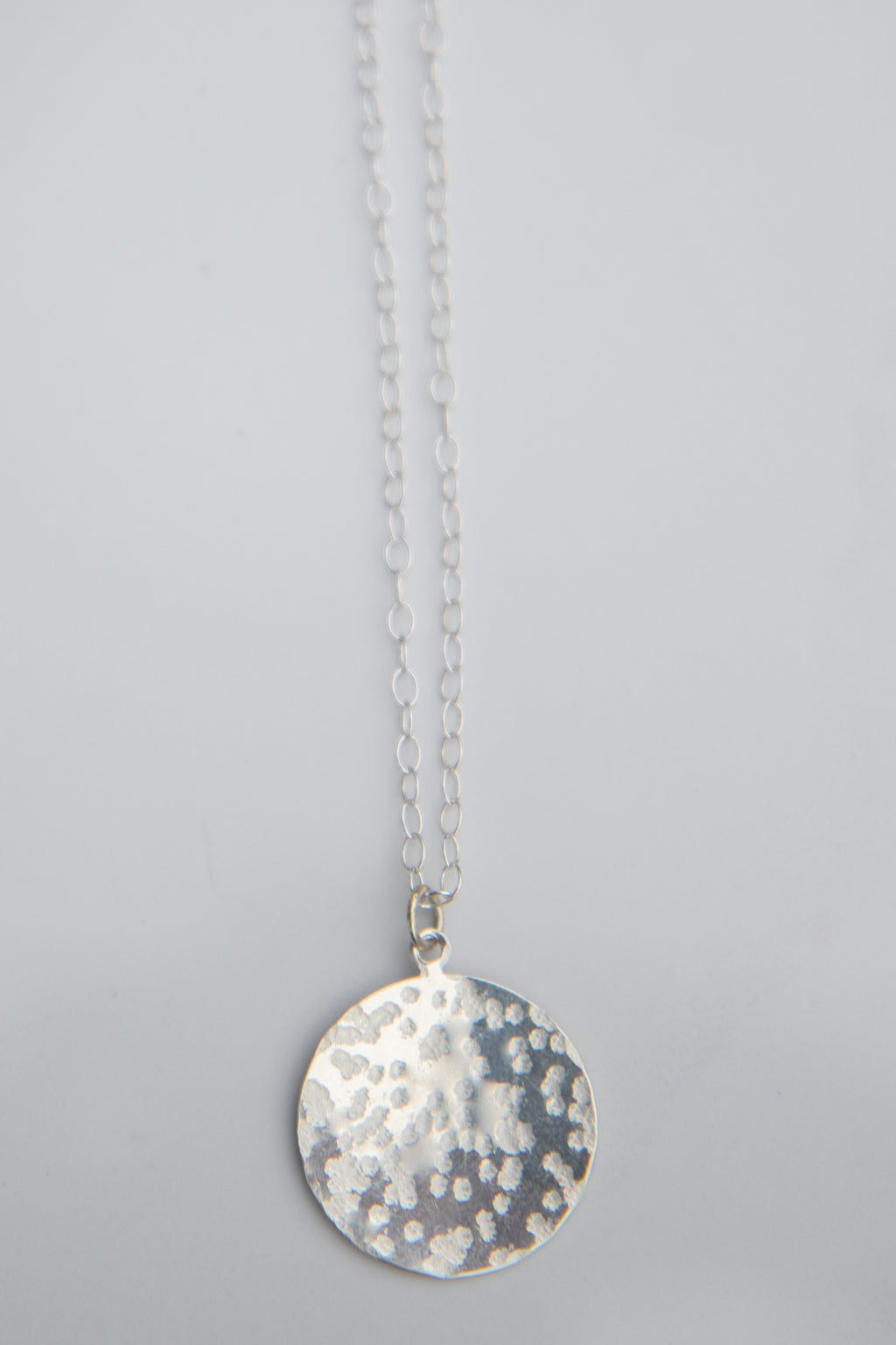 Isla medallion Necklace - Silver
